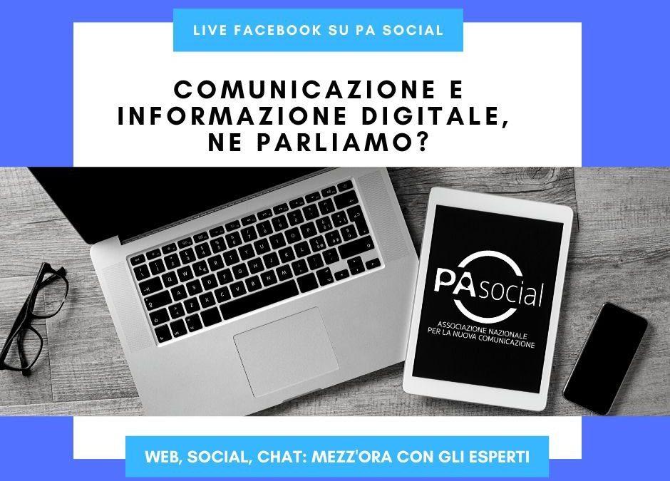 Comunicazione e informazione digitale, ne parliamo? Live social con gli esperti