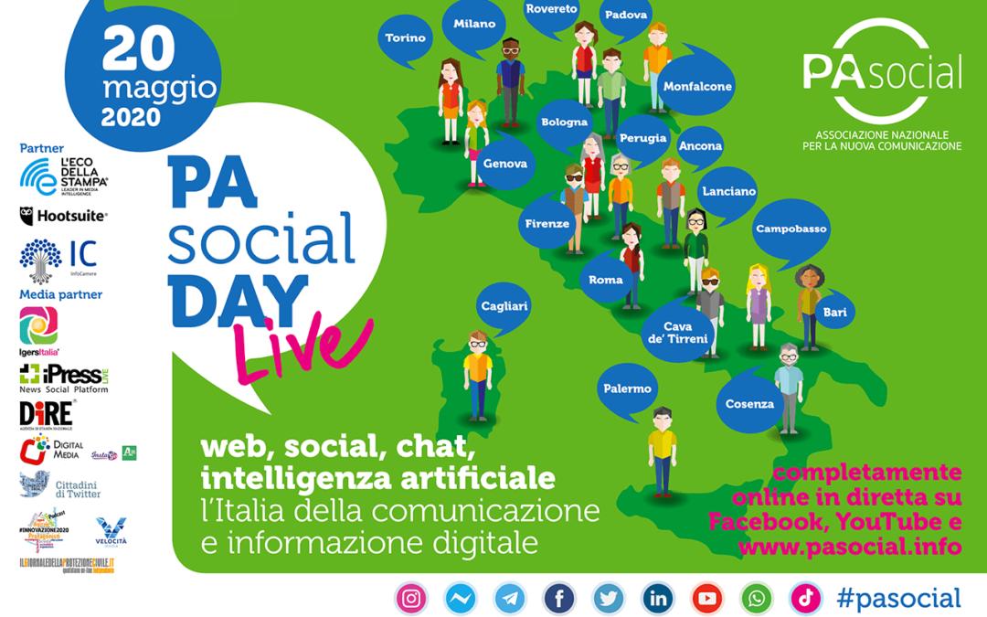 Digitale, social, chat, intelligenza artificiale. Torna il PA Social Day, il 20 maggio la terza edizione in tutta Italia. Live su web e social
