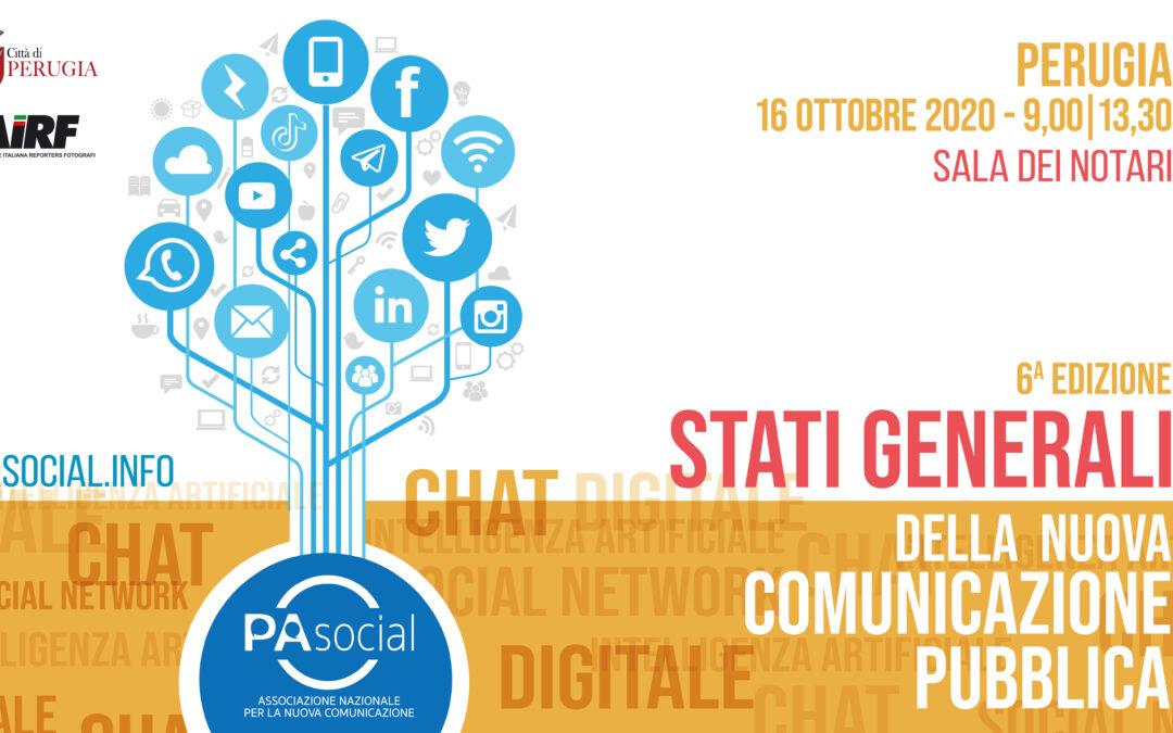 A Perugia la sesta edizione degli Stati Generali della nuova comunicazione pubblica