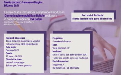 PA Social e Luiss insieme per il Master in Comunicazione e Marketing Politico ed Istituzionale