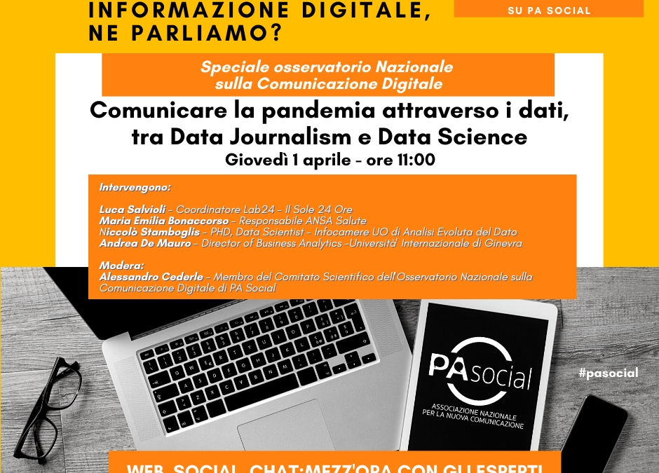 Comunicare la pandemia attraverso i dati, tra Data Journalism e Data Science
