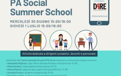 PA Social Summer School per docenti, due giorni di formazione online
