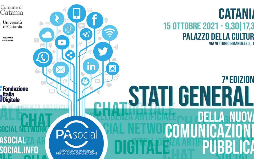 Stati Generali della nuova comunicazione pubblica, a Catania il 15 ottobre la settima edizione dell'iniziativa di PA Social